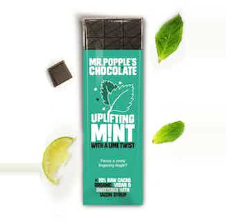 UPLIFTING MINT with a Twist of Lime Chocolate Bar - 35g from Mr Popple's Chocolate