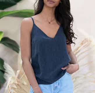 Adénia navy blue camisole from Avani in Tops, Women's Sustainable Clothing