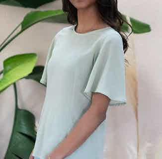 Lys reversible matcha green blouse from Avani in Tops, Women's Sustainable Clothing
