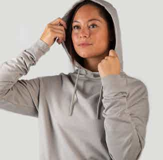 Sustainable Unisex Hemp & Organic Cotton  Performance Hoodie | Sand Grey from Iron Roots in Tops, Activewear