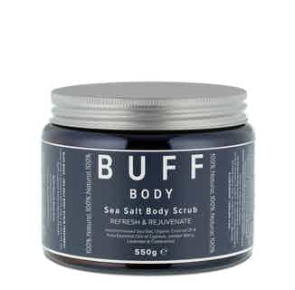 BODY Refresh and Rejuvenate Sea Salt Body Scrub 550g from Buff Natural Body Care in Bath & Shower, Sustainable Beauty & Health