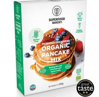 Morning Dreamers   Organic Vegan and Gluten Free Pancake Mix   200g from Supergood Bakery in Baking, Sustainable Food & Drink
