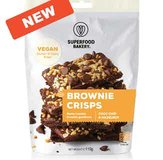 Brownie Crisps | Organic Vegan Gluten Free Snack | Choc Chip & Hazelnut from Supergood Bakery in Grocery, Sustainable Food & Drink