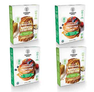 Breakfast Bundle   Organic Vegan Gluten Free Pancake and Banana Loaf Mix   4 Mixes from Supergood Bakery in Baking, Sustainable Food & Drink