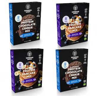 Protein Bundle | Organic Vegan Gluten Free Pancake & Cookie Mix | 4 Mixes from Supergood Bakery in Baking, Sustainable Food & Drink