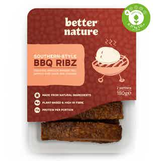 Southern-Style BBQ Organic Soy Meat-Free Tempeh Ribz | 180g from Better Nature in Meat Alternatives, Sustainable Food & Drink