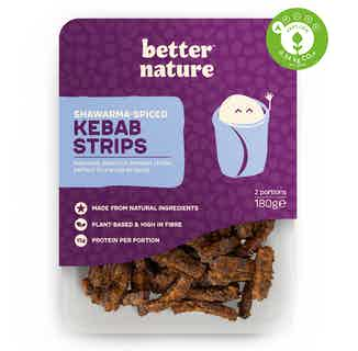 Shawarma-Spiced Organic Soy Tempeh Kebab Strips | 180g from Better Nature in Meat Alternatives, Sustainable Food & Drink