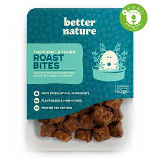 Traditional & Tender Organic Soy Tempeh Roast Bites | 180g from Better Nature in Meat Alternatives, Sustainable Food & Drink
