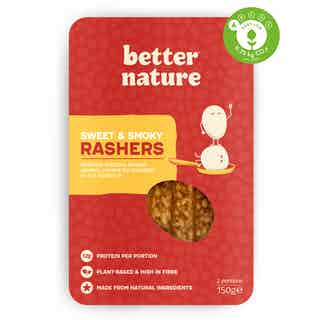 Sweet & Smoky Rashers | Organic Soy Tempeh | Single Pack from Better Nature in Meat Alternatives, Sustainable Food & Drink