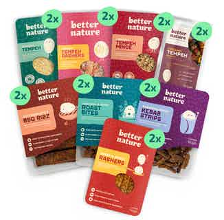 The Whole Shebang Bundle | 8x Organic Soy Meat-Free Tempeh Selection | Pack of 16 from Better Nature in Meat Alternatives, Sustainable Food & Drink