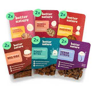 'Meatlovers' Bundle | Selection of Organic Soy Tempeh Tastes | Pack of 12 from Better Nature in Meat Alternatives, Sustainable Food & Drink