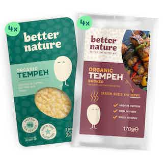 Blank Canvas Bundle | Organic Soy Meat- Free Tempeh | Pack of 8 from Better Nature in Meat Alternatives, Sustainable Food & Drink