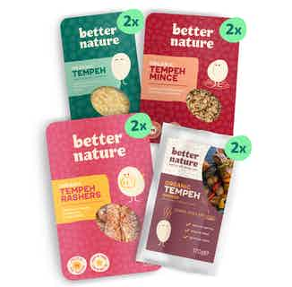 OMG Bundle | Organic Soy Meat-free Goodness Tempeh | 8 Pack from Better Nature in Meat Alternatives, Sustainable Food & Drink