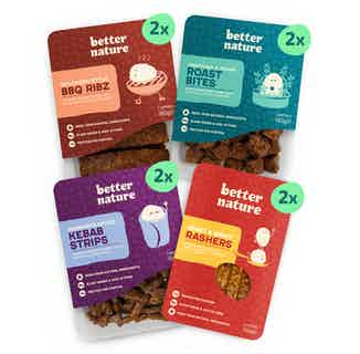 New Kids on the Block Bundle | Organic Flavoured Soy Tempeh | Pack of 8 from Better Nature in Meat Alternatives, Sustainable Food & Drink
