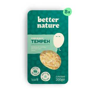 The OG Bundle | 8x Organic Meat-Free Soy Tempeh | 200g from Better Nature in Meat Alternatives, Sustainable Food & Drink
