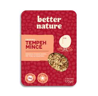 Organic Soy Meat- Free Tempeh Mince | 170g from Better Nature in Meat Alternatives, Sustainable Food & Drink