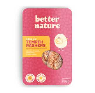 Organic Soy Meat- Free Tempeh Rashers | 120g from Better Nature in Meat Alternatives, Sustainable Food & Drink