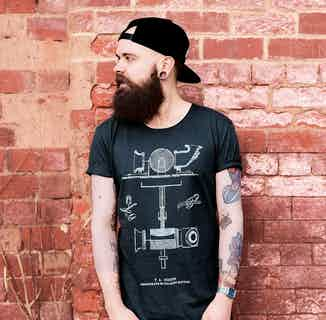 Mens Edison Raw-Edge T-Shirt from Audio Architect Apparel in Men's Sustainable Fashion,