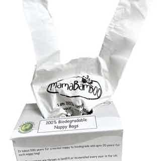 Eco- Friendly Biodegradable Nappy Bags | Pack of 4 from Mama Bamboo in Bathing & Changing, Sustainable Children's Clothing