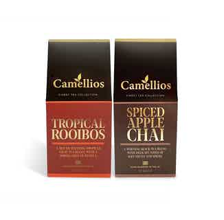 Exotic Set Blended Tea Collection | Biodegradable Pyramid Bags | 2 Pack from Camellios in Tea, Drinks