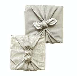 Fabric Gift Wrap Furoshiki Cloth - Dove and Lily Double Sided (Reversible) from FabRap in Gift Wrapping , Gifts