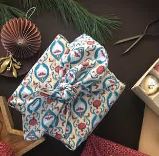 Fabric Gift Wrap Furoshiki Cloth - Teal Single Sided from FabRap in Gift Wrapping , Gifts