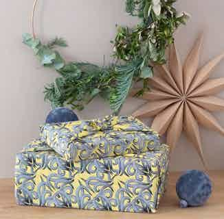 Fabric Gift Wrap Furoshiki Cloth - Sunshine Nouveau Single Sided from FabRap in Gift Wrapping , Gifts