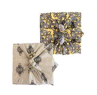 Fabric Gift Wrap Furoshiki Cloth - Sunshine & Make A Wish Double Sided (Reversible) from FabRap in Gift Wrapping , Gifts