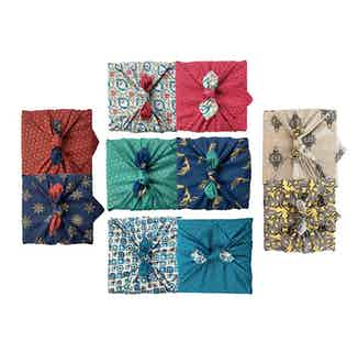 Fabric Gift Wrap Furoshiki Cloth - 5 Piece Gift Pack Double Sided from FabRap in Gift Wrapping , Gifts
