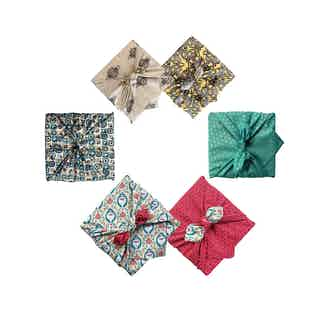 Fabric Gift Wrap Furoshiki Cloth - 4 Piece Mini Multi-size & Multi-style Starter Pack from FabRap in Gift Wrapping , Gifts