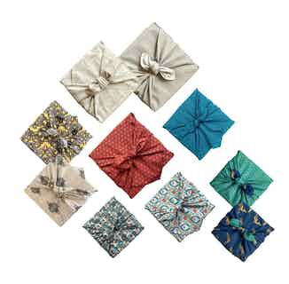 Fabric Gift Wrap Furoshiki Cloth - 7 Piece Midi Multi-size & Multi-style Starter Pack from FabRap in Gift Wrapping , Gifts