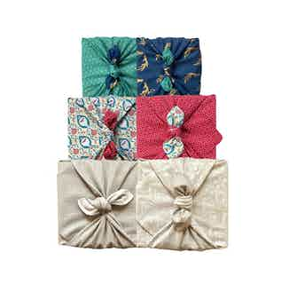 Fabric Gift Wrap Furoshiki Cloth - Multi-size Double Sided Reversible Pack - 3 Pieces from FabRap in Gift Wrapping , Gifts