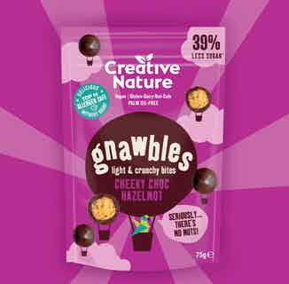 Cheeky Choc HazelNOT Gnawbles Share Bag from Creative Nature in Snacks & Treats, Sustainable Food & Drink