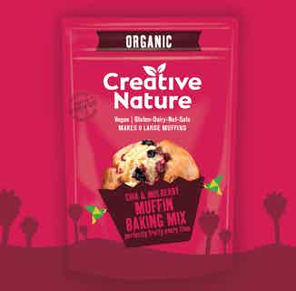 Organic Chia & Mulberry Muffin Mix from Creative Nature in Baking, Sustainable Food & Drink