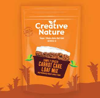 Simply Spiced Carrot Cake Loaf Mix from Creative Nature in Baking, Sustainable Food & Drink