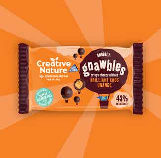 Brilliant Orange Cacao Crispy Protein Gnawbles x 18 from Creative Nature in Snacks & Treats, Sustainable Food & Drink