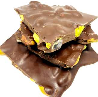 Vegan & Sugar Free Chocolate Bark   Dark Belgium Chocolate & Pistachio from Chocolage in Bars, Chocolate