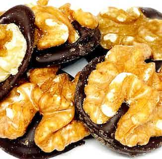Vegan Sugar Free Chocolate Mendiants   Dark Chocolate & Walnut from Chocolage in Bars, Chocolate