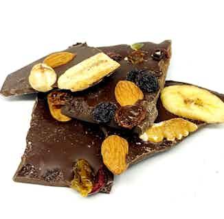 Vegan & Sugar Free Artisan Chocolate Bark   Fruits & Nuts from Chocolage in Bars, Chocolate