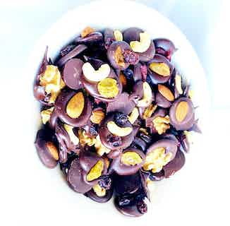 Vegan & Sugar Free Chocolate Mendiants | Fruits & Nuts from Chocolage in Bites, Chocolate