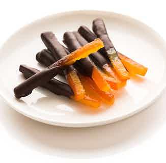 Dark Vegan Orangettes from Chocolage in Snacks & Treats, Sustainable Food & Drink
