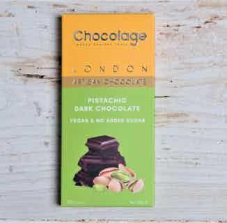 Pistachio Dark Chocolate Bar from Chocolage in Bars, Chocolate