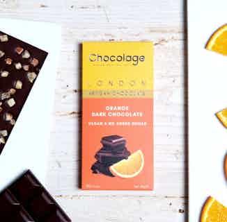 Vegan Artisan Chocolate Bar   Orange & Dark Belgium Chocolate from Chocolage in Bars, Chocolate