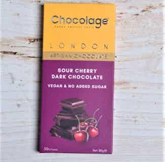 Vegan Artisan Chocolate Bar   Sour Cherry Belgium Dark Chocolate from Chocolage in Bars, Chocolate