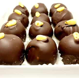 Premium Vegan Date Truffles   Handmade Chocolate Covered with Sugar Free Chocolate   Box 12 from Chocolage in Bites, Chocolate