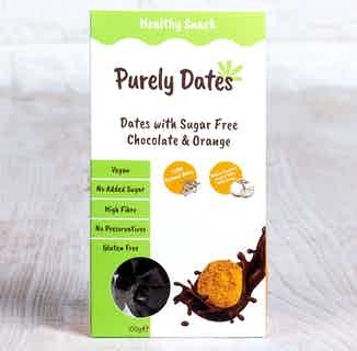 Purely Dates Vegan Truffle | Dates with Sugar Free Chocolate & Orange | 100g from Chocolage in Snacks & Treats, Sustainable Food & Drink