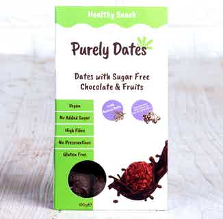 Purely Dates Vegan Truffle | Dates with Sugar Free Chocolate & Fruits | 100g from Chocolage in Snacks & Treats, Sustainable Food & Drink