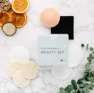 Eco-Friendly Beauty Essentials Box | Organic Cotton & Bamboo Set from Tabitha Eve in Bath & Shower, Sustainable Beauty & Health