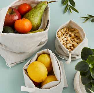 Handmade Reusable Luxury Linen Produce Bags from Tabitha Eve in Kitchen, Sustainable Homeware & Leisure