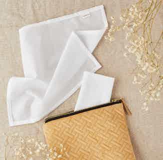 Reusable GOTs Organic Cotton Handkerchief Set from Tabitha Eve in Kitchen, Sustainable Homeware & Leisure